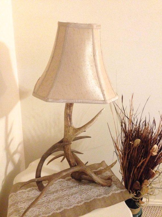Antler Lamp Rustic Lamp Table Lamp Nightstand Lamp Rustic ...