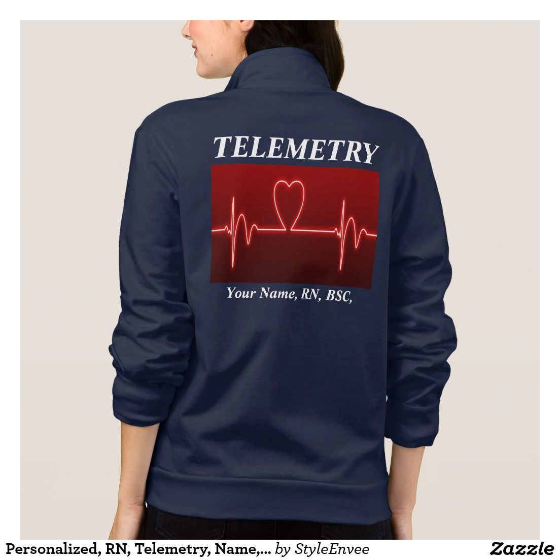 Design your own t shirt american apparel - Personalized Rn Telemetry Name Credentials Jacket