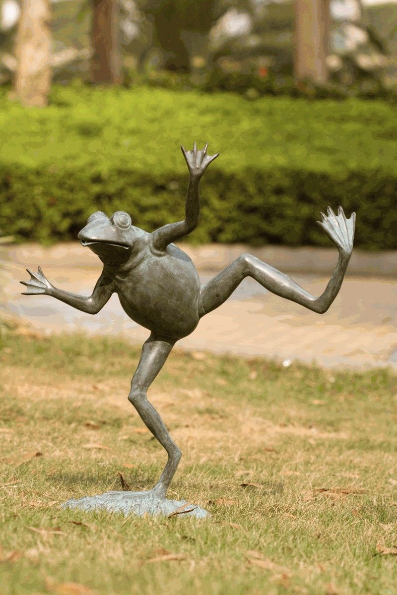 Dancing Frog Spitter Garden Decor by SPI Home  Garden frog statue