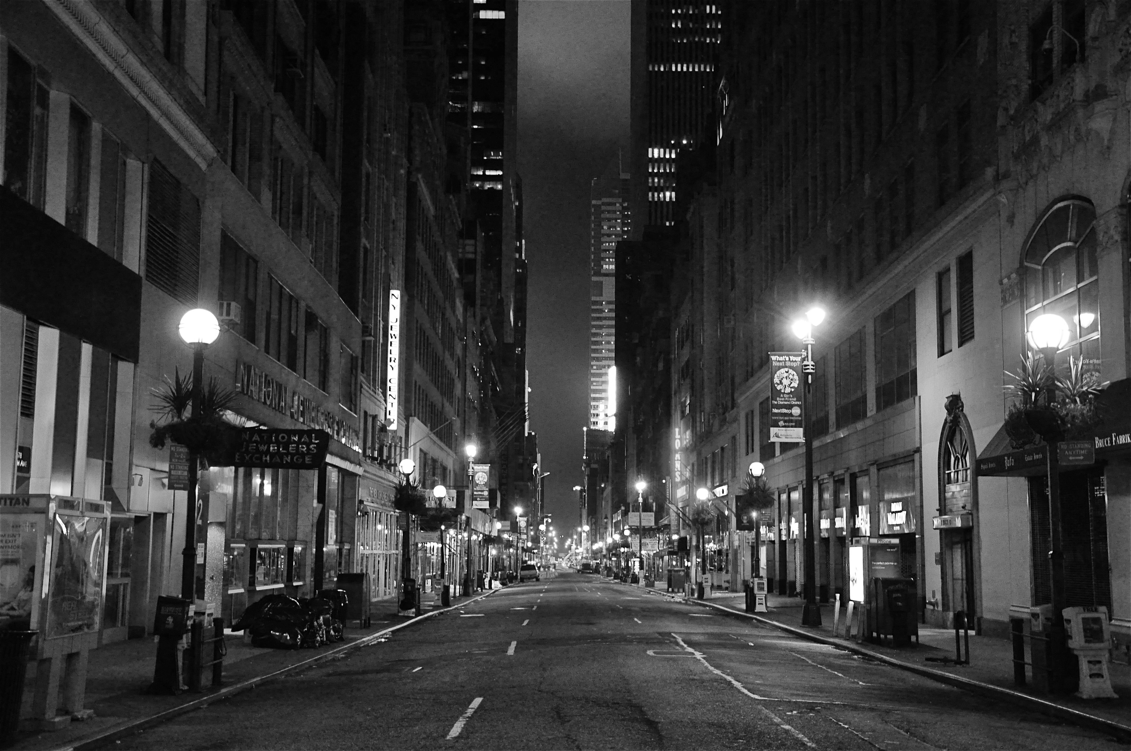city street at night Night cityscapes (color photography) snake street marco carmassi new york city skyline at night deng songquan 395 x 195 in.