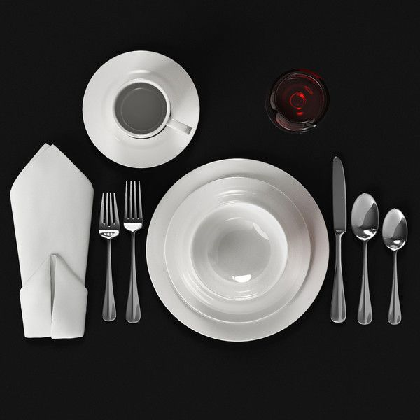 flatware silverware dining 3ds - Dinnerware Set... by 3DGathering