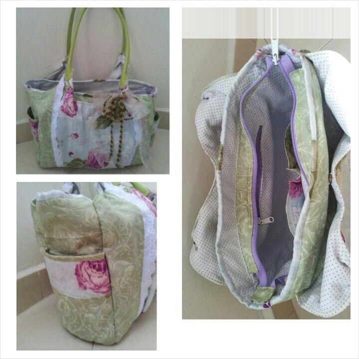 Purple Rose Shoulder Bag