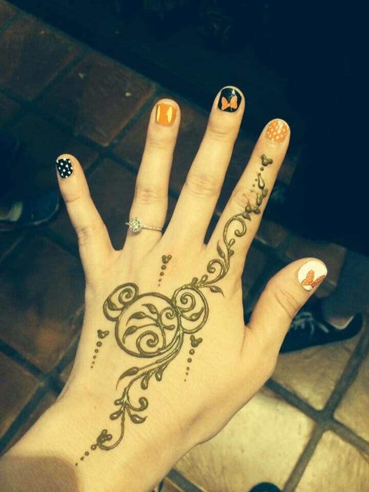 Perfect Henna For A Disney Cruise Henna Tattoo Wrist Henna Tattoo Designs Disney Henna