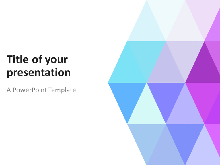 free abstract pastel triangles powerpoint template | abstract, Modern powerpoint