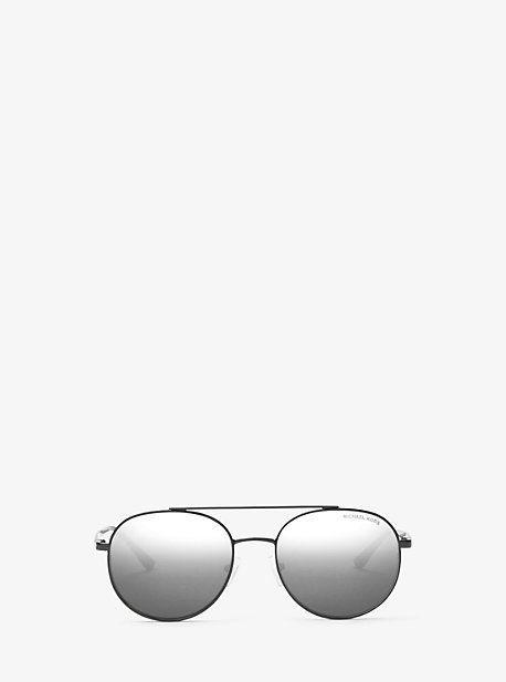 ff985b578 Lon Rounded Aviator Sunglasses | Products | Black aviator sunglasses ...