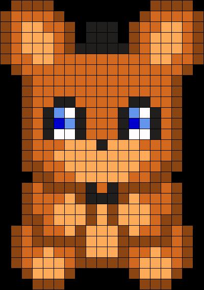 Freddy Plush Perler Bead Pattern Bead Sprite Pixel