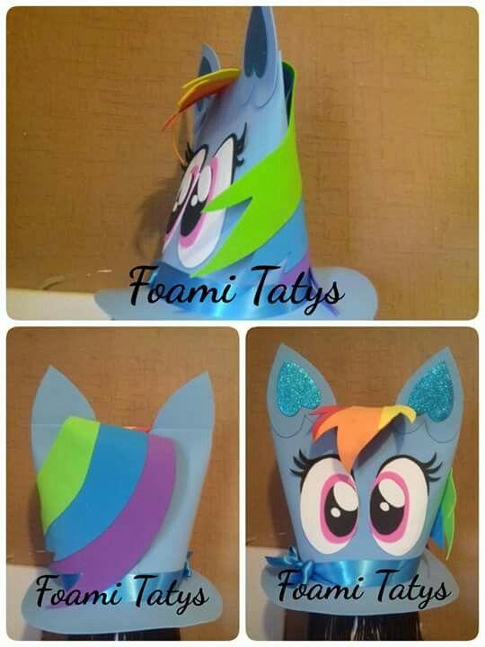 Sombreros De Copa. Pelucas. Disfraces. Sombrero loco rainbown dash my  little pony Día Loco b0bab216547