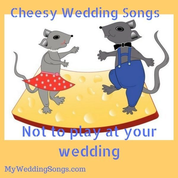 Cheesy Wedding Songs Not To Play At Your Wedding Check Out This List Weddingmusic Mysongs Wedding Songs Songs Song Suggestions