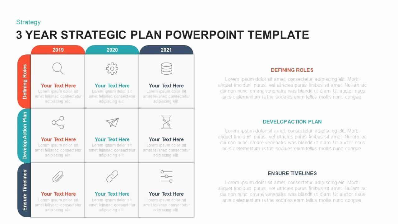 Strategic Plan Powerpoint Template Elegant 3 Year Strategic Plan