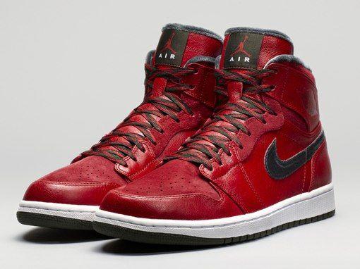 Air Jordan 1 High Premier Varsity Red Dark Army