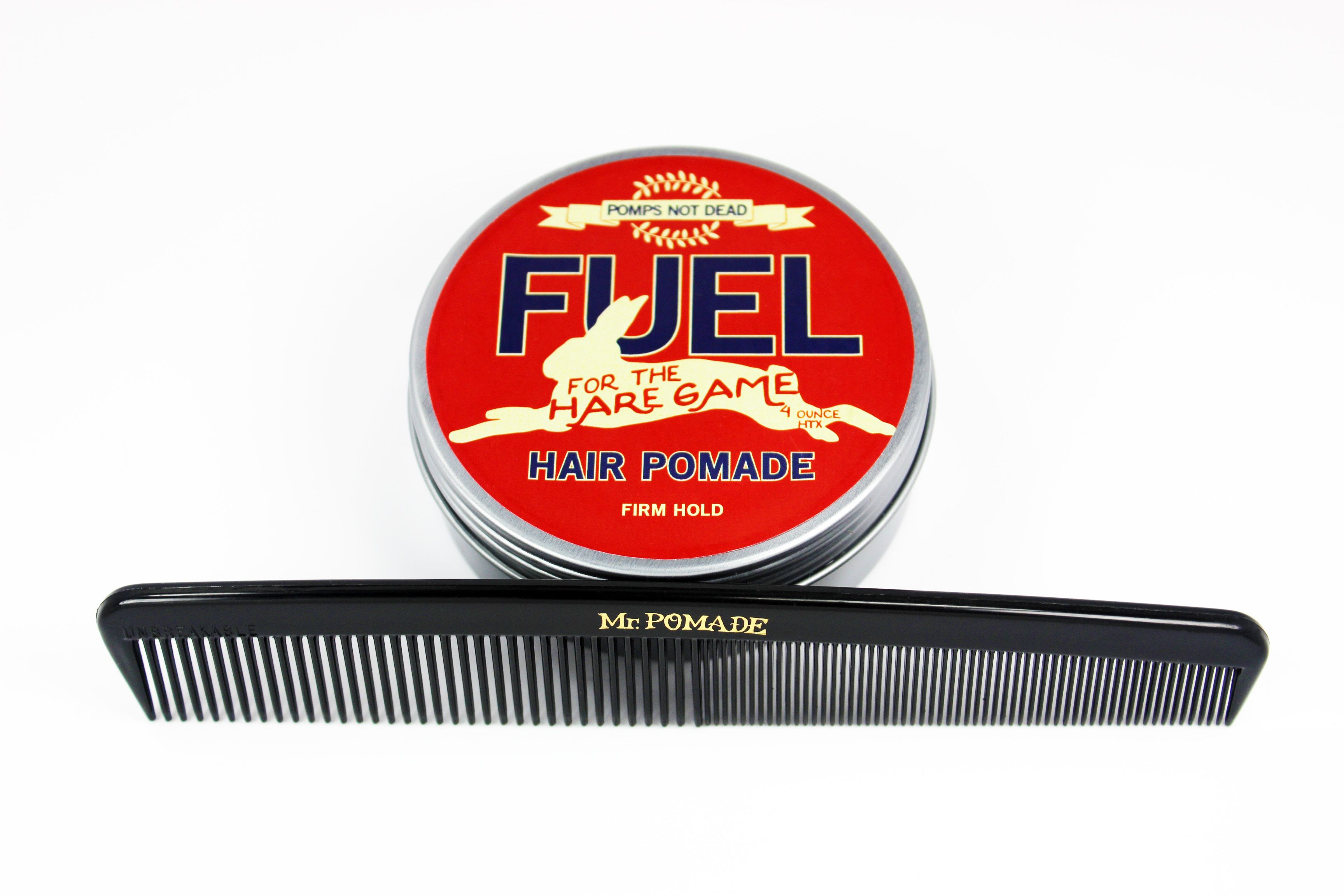 Pomps Not Dead Firm and the #mrpomade #hair #dressing #comb The #pompsnotdead firm is going for $14.00 and a great $5.00 comb that is sturdy and has coarse and fine teeth.