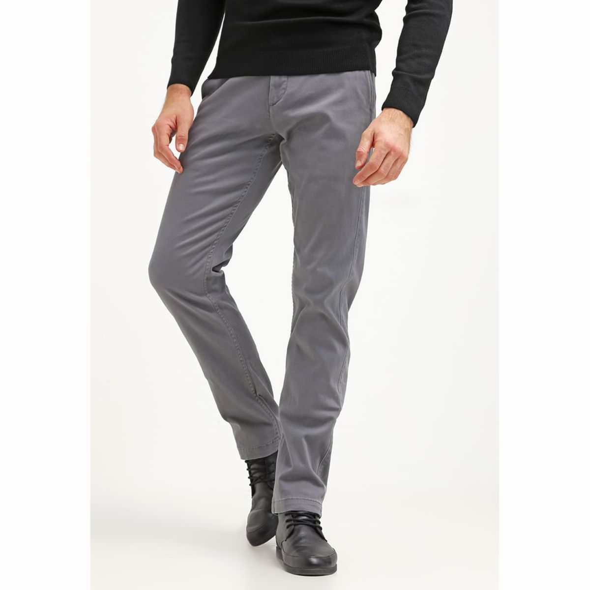 Pantalon Chino Coupe Slim Washed Khaki Stretch Taille W33 L34 W30 L34 Pantalon Chino Vestimentaire Et Style Vestimentaire