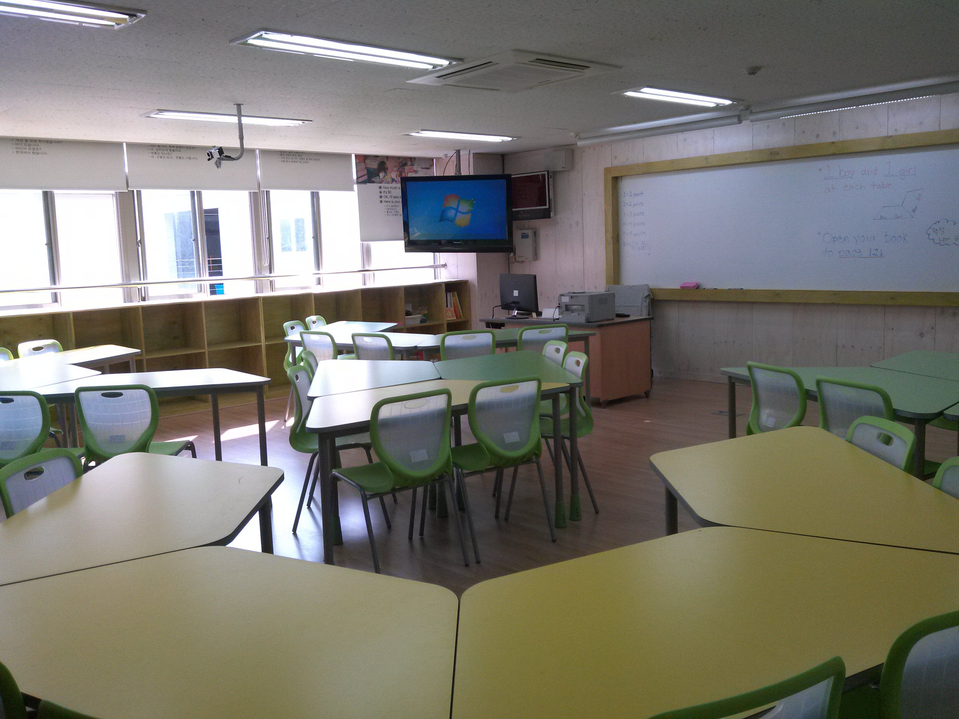 Image result for classroom design for trapezoid tables