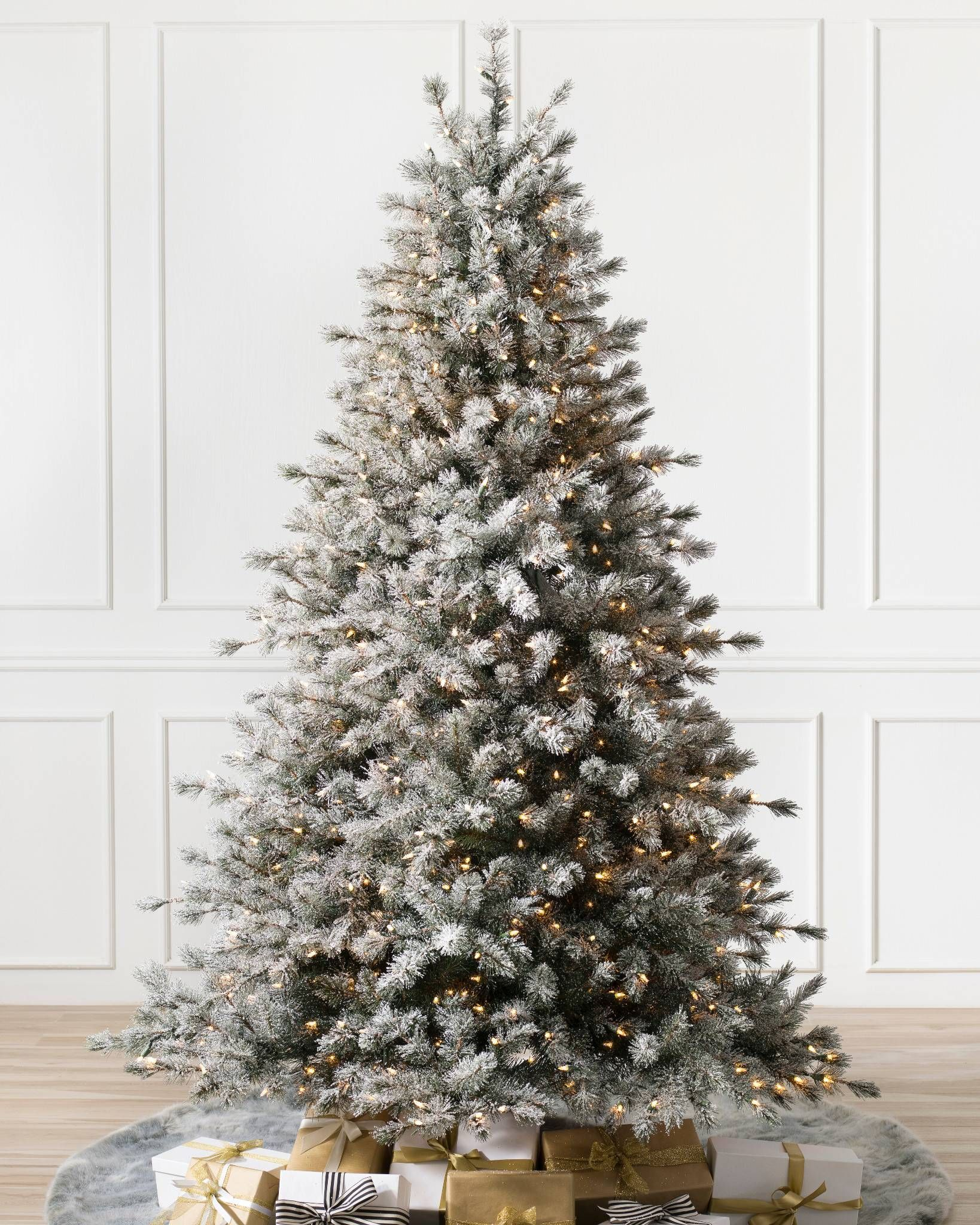 Frosted Sugar Pine Artificial Christmas Trees Balsam Hill In 2020 Realistic Christmas Trees Flocked Christmas Trees Best Artificial Christmas Trees