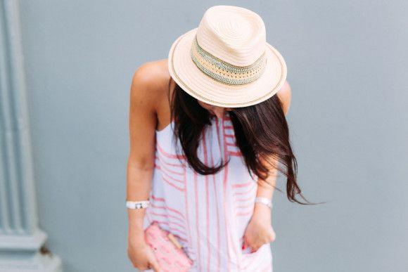 Striped Linen Shift Dress - Dallas Wardrobe