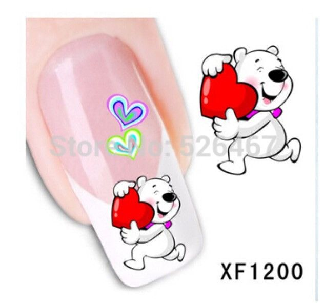Cute Cartoon Nail Art Water Decals