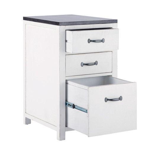 Küchenunterschrank aus Recyclingholz, B 50 cm, weiß Kitchen - küchen unterschrank ikea