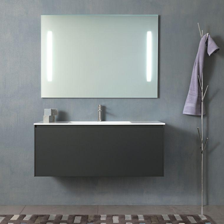 Specchio Bagno Nero.Arredare Un Bagno Con Mobile Lavabo Colore Nero Specchio