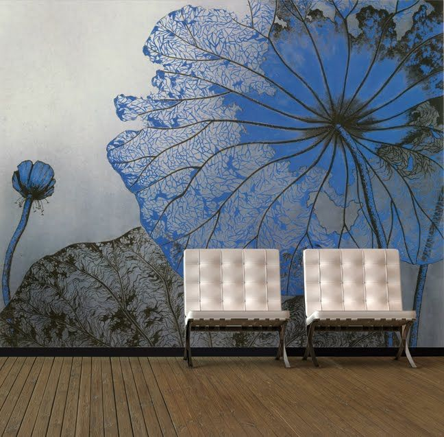 Create a room that's the star of your home with a beautiful Asian Wallpaper.  It's