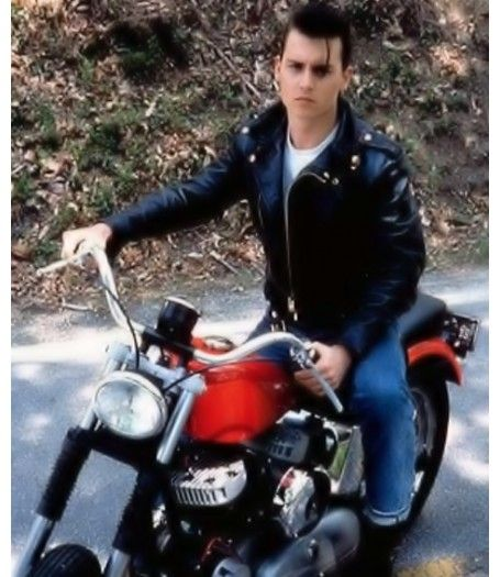 Motorcycle Johnny Depp Jacket Cry Baby Leather Jacket Johnny Depp Cry Baby Cry Baby Movie Young Johnny Depp