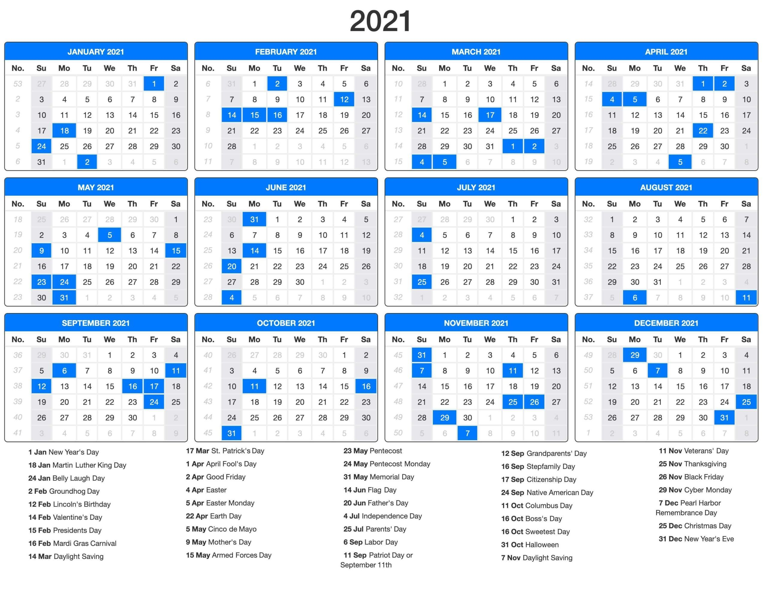 Download this 2021 editable portrait monthly calendar with holidays. 2021 Calendar with Holidays | Vacation calendar, Printable ...