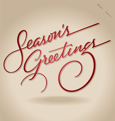 10 Coolest Calligraphic Xmas & New Year\'s Greetings | Xmas ...