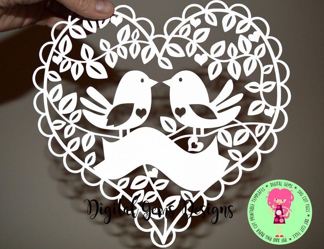 Paper Art Cuttinginstant Download Love Hummingbirds Paper Cut