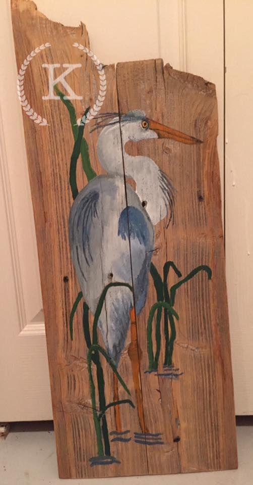 Heron * 26 x 11 in * 40$ * Kyla D'Arensbourg