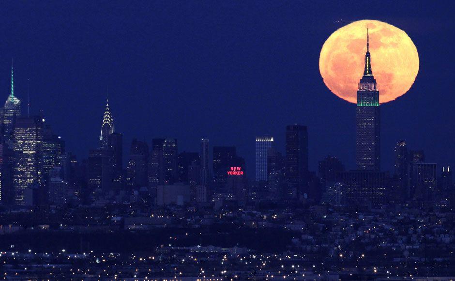 New York Under The Super Moon Magicical Pinterest Luna Llena