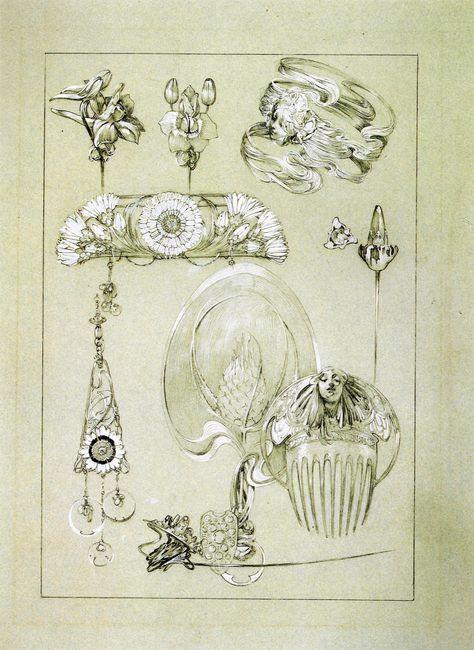 Alfons Maria Mucha / Documents Décoratifs , Dessins