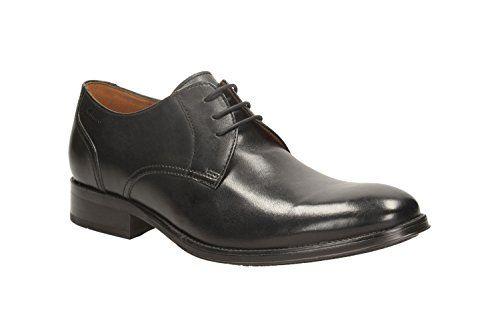Clarks Herren Modern-Elegant Kolby Walk Leder Halbschuhe In Schwarz Größe  45 - http: