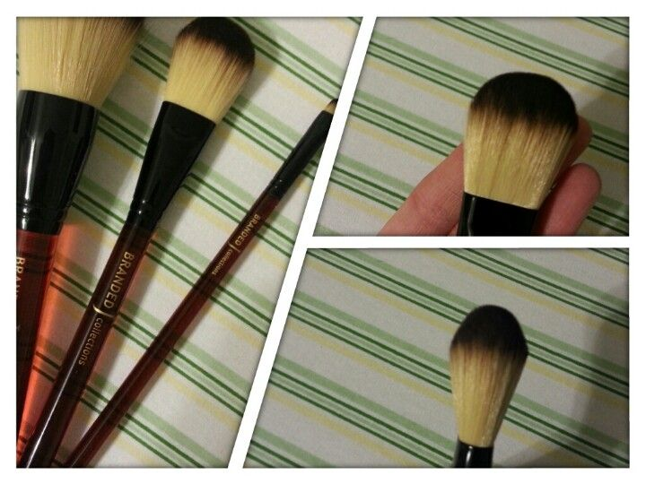 I had some of the eye brushes in my kit but just got this awesome foundation brush & large Powder brush