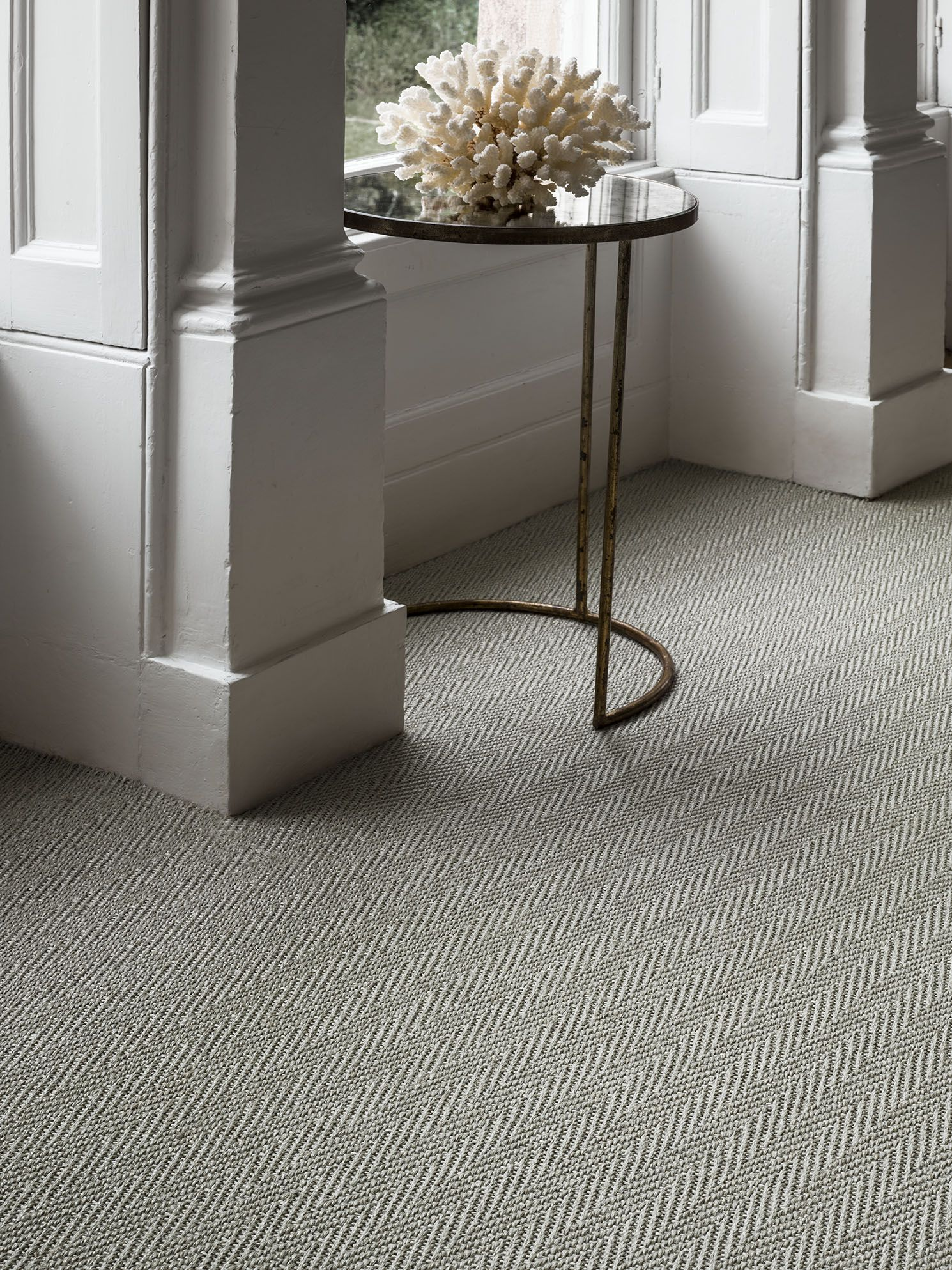 Sisal Harmony Herringbone In Elegant Iron Whereinspirationbegins