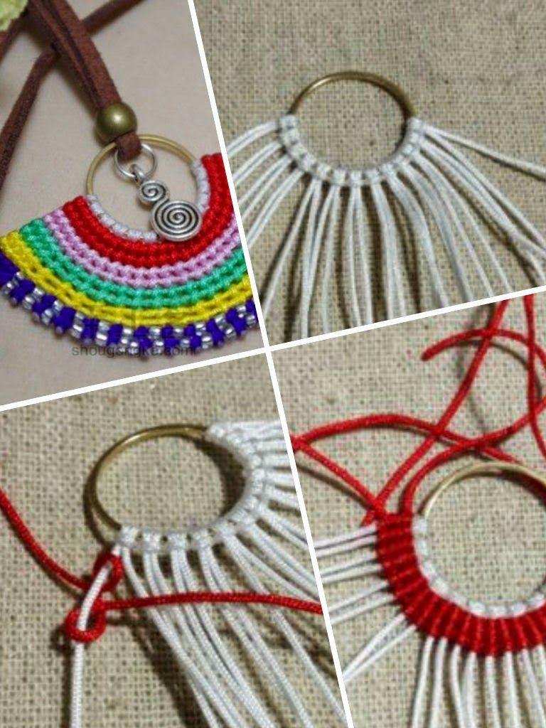 Colgante de alambre nudos y abalorios tutorial craft - Manualidades desde casa ...