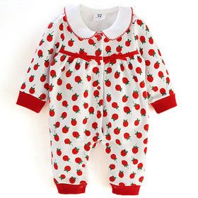 Gmarket - Strawberry/Pattern/Ribbon/Baby Rompers/202600