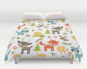 Animals Duvet Cover Animal Bedding Bedroom Woodland Childrens Kids Comforter