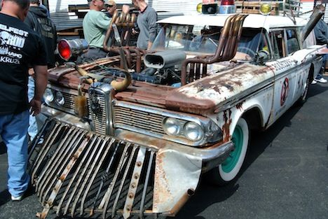 Ford Edsel Wagon With A Cowcatcher