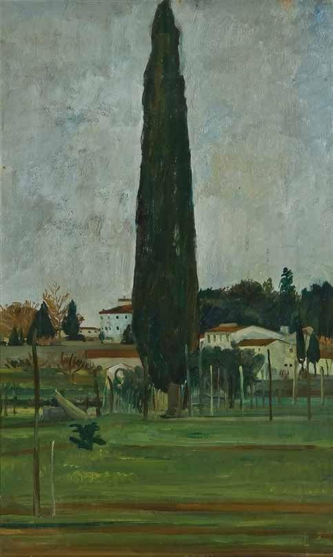 Alfiero Cappellini, Il grande cipresso (Il cipressone), 1948.