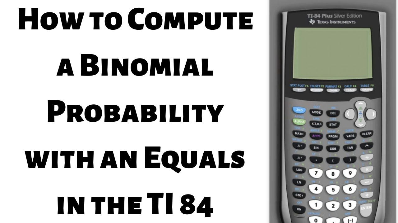 How to compute a binomial probability with equals in the