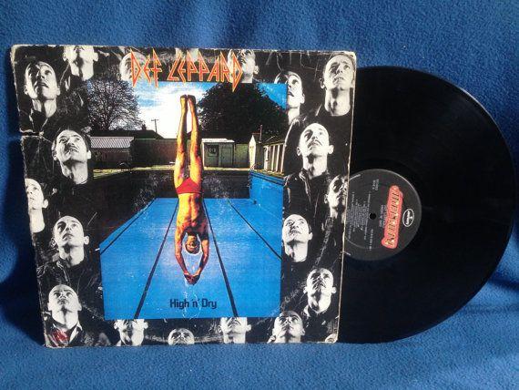 Vintage Def Leppard High 'N' Dry Vinyl LP by sweetleafvinyl