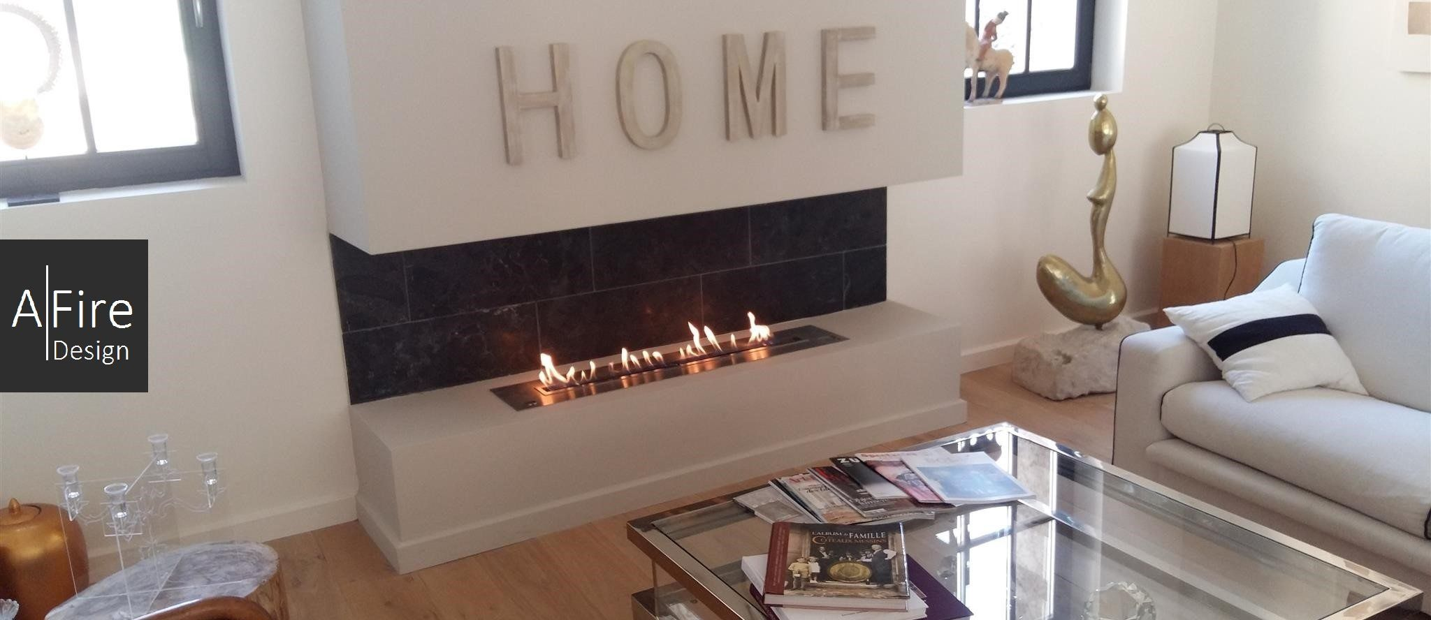 #EthanolFireplaces For Apartments And Townhouses AFIRE Design  #EthanolBurnerInsert With Electronic Ignition Https:/