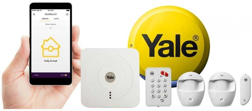 Yale Smart Home Alarm Kit Sr 320 Quick And Easy Batteries Included 868mhz White Home Alarm Smart Home Smart Living