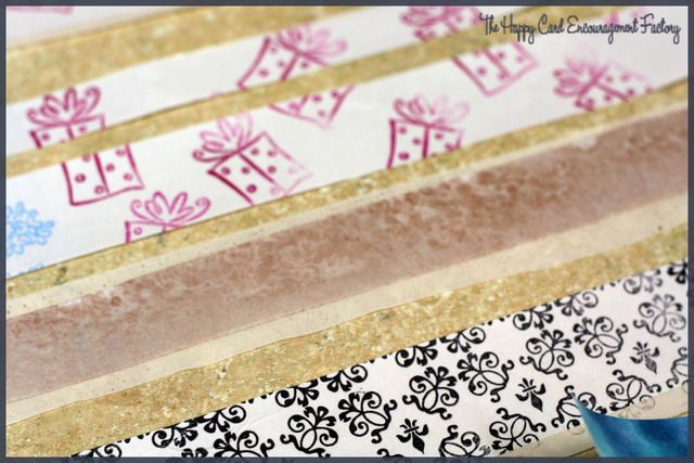 Homemade Washi Tape Zyron And Tissue Paper Card Factory