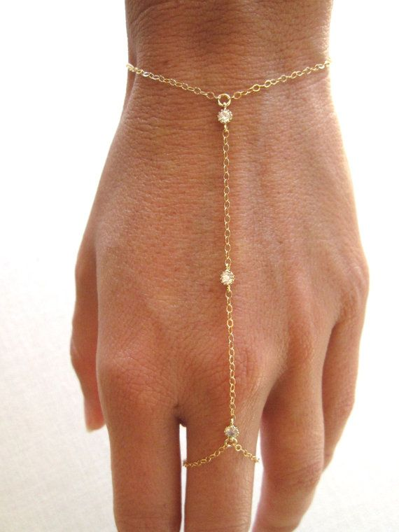 slave bracelet hand chain gold filled bracelet by CarmaCollection