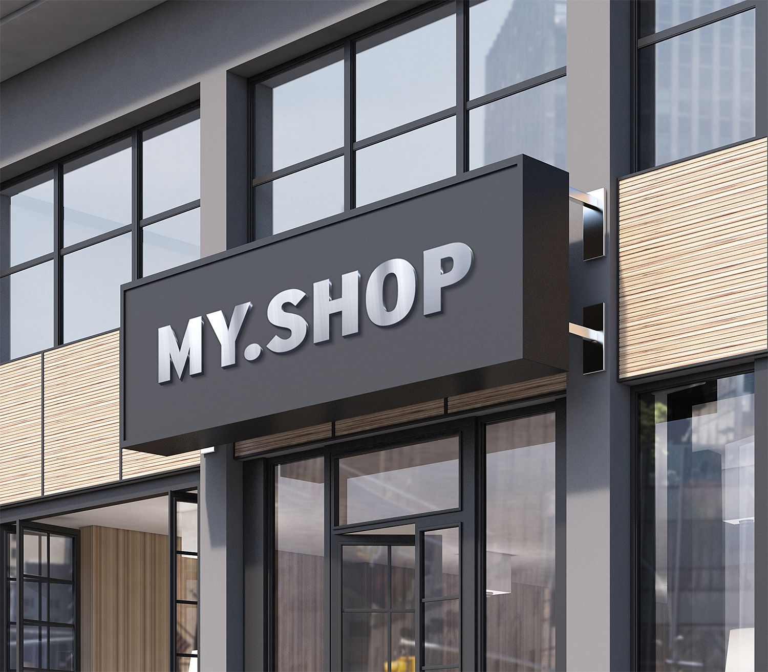 Showcase your outdoor signage design in a photorealistic look with this shop facade mockup free psd the file consists of smart objects