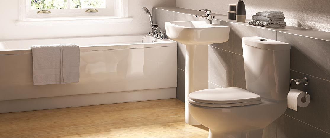 10 Of The Best Bathroom Suites On A Budget Amazing Bathrooms Budget Bathroom Gray White Bathroom