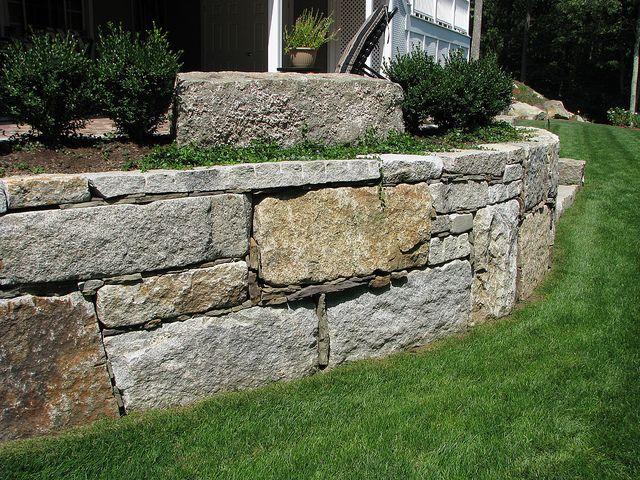 Reclaimed Granite Block Retaining Wall Natural Stone Wall Stone Wall Granite Blocks