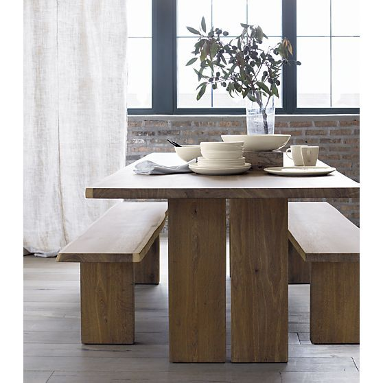 Dakota 51 Bench Dining Table With Bench Dining Room Table