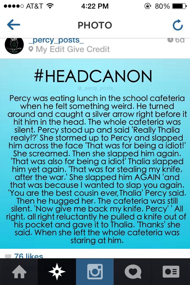 headcanons percy jackson - Google Search except I think Percy might have drenched her in water at some point in there