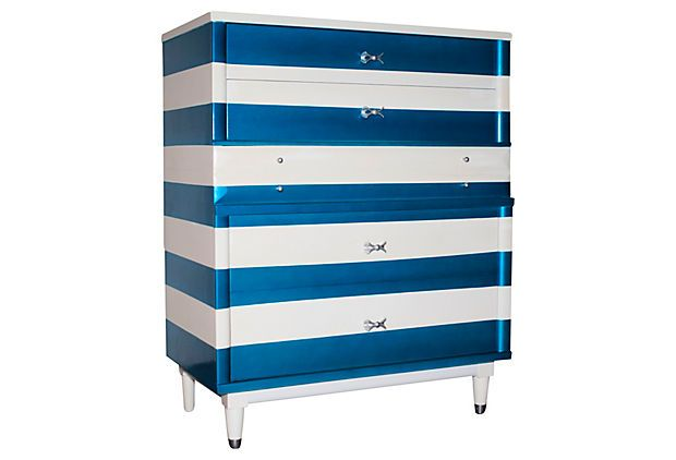 Best One Kings Lane Nuts For Navy Blue White Striped 640 x 480